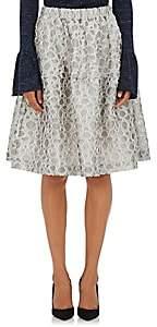 Co Women's Dot-Pattern A-Line Skirt-White