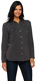Factory Quacker DreamJeannes Be Jeweled ButtonFront Shirt