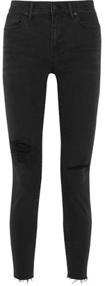 Madewell - Distressed High-rise Skinny Jeans - Black $130 thestylecure.com