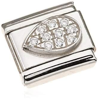 Nomination Composable Women s Charm Silver Oxidised Gemini Zodiac Stainless Steel-White Zirconia - 031714/03 CslBAI