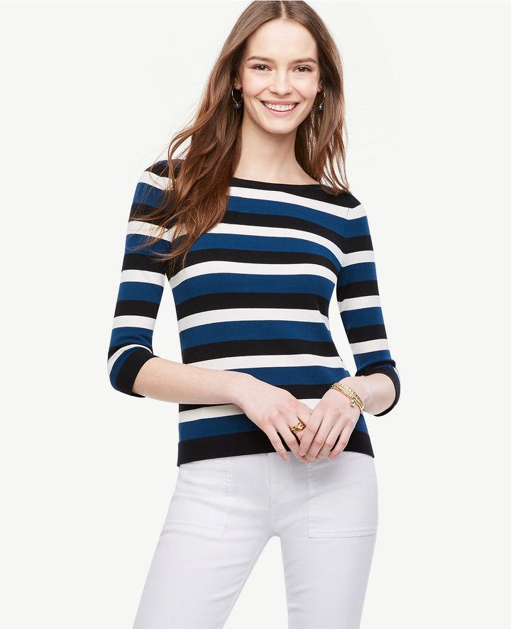 Ann TaylorPetite Striped Bateau Sweater