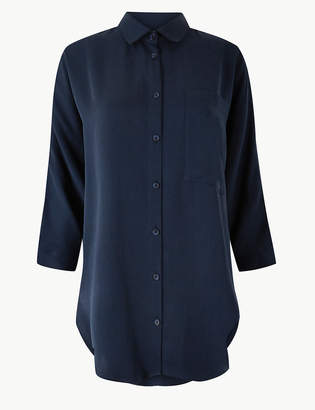 Marks and Spencer Relaxed 3/4 Sleeve Shirt