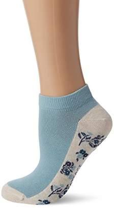 Fat Face Women's Floral Trainer Socks