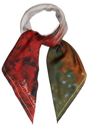 Mary Mccartney - Profile On Red Print Silk Scarf - Womens - Red