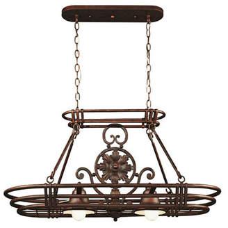 Wildon Home Dorada Lighted Hanging Pot Rack