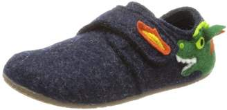Living Kitzbühel Klettslipper Drach Slippers Unisex-Child Blue Size: 34