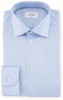Eton Diamond Jacquard Dress Shirt