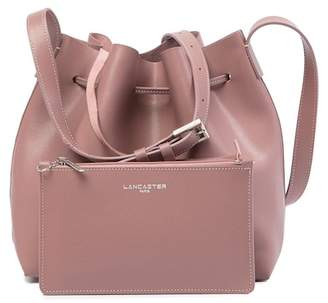 Lancaster Paris Pur Saffiano Leather Bucket Bag & Pouch