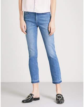 Claudie Pierlot Released-hem cropped skinny mid-rise jeans