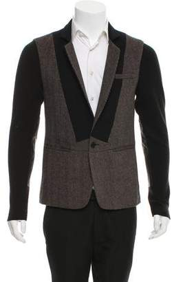 Yigal Azrouel Leather-Accented Wool-Blend Jacket