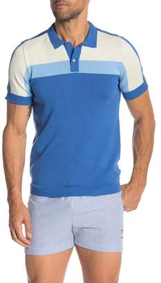 Parke & Ronen Colorblock Polo Shirt