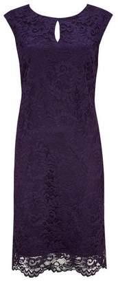 Wallis Purple Lace Shift Dress