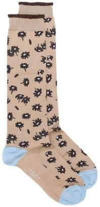 Marni leopard floral intarsia socks