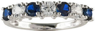 JCPenney FINE JEWELRY Blue and White Lab-Created Sapphire Sterling Silver Ring