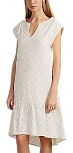 Leo & Sage WOMEN'S COTTON JACQUARD V-NECK SHIFT DRESS