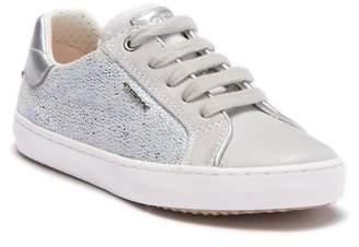 Geox Kilwi Glitter Leather Sneaker (Toddler & Little Kid)
