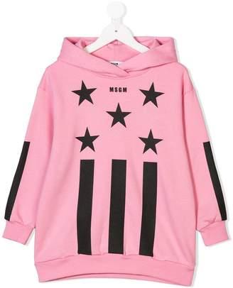 MSGM stars print hoodie