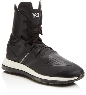 Y-3 Pure Boost ZG High Top Sneakers $400 thestylecure.com
