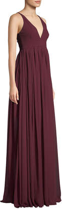 Dress the Population Phoebe V-Neck Sleeveless Empire Gown