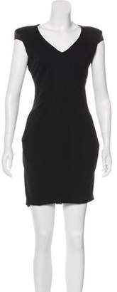 Helmut Lang Virgin Wool Mini Dress