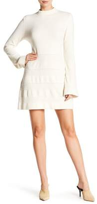 Frame Bell Sleeve Sweater Dress