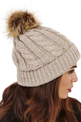Boutique ladies winter bobble hat style 20601