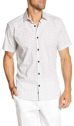 Jared Lang Gemstone Print Short Sleeve Regular Fit Shirt