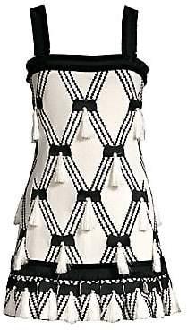 Alexis Women's Bijou Knit Tassel A-Line Mini Dress