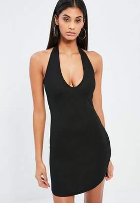 Black Halterneck Mini Dress $19 thestylecure.com