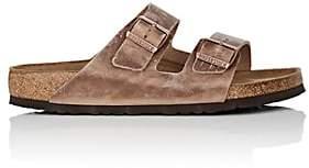 Birkenstock Men's Arizona Oiled Leather Double-Buckle Sandals-Lt. brown