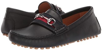 Gucci Kids GG Leather Moccasin (Little Kid)