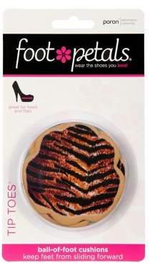 Foot Petals Poron Animal Print Tip Toes Three Pair Set