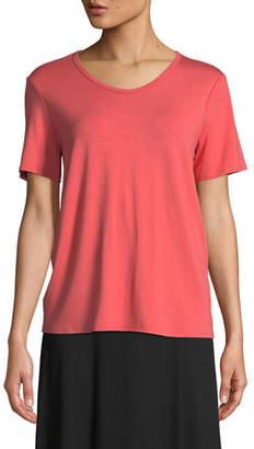 Eileen Fisher Soft Jersey Easy V-Neck T-Shirt