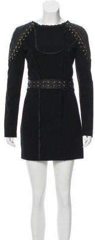 Emilio PucciEmilio Pucci Leather-Accented Mini Dress