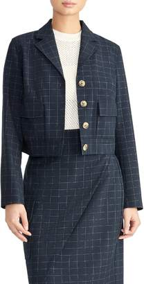 Rachel Roy Collection Check Crop Jacket