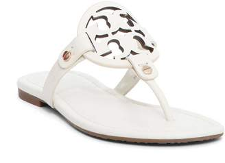 Tory Burch Laser Cut Logo Flat Sandals