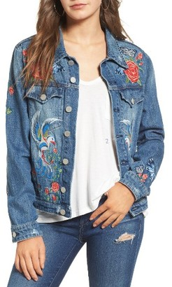 Women's Blanknyc Embroidered Denim Jacket $148 thestylecure.com