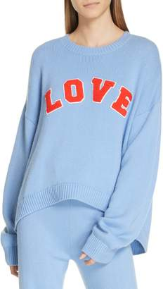 Tory Sport Love Letterman Performance Cashmere Sweater