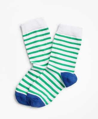 Brooks Brothers Boys Cotton Striped Socks