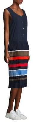 Public School Jama Pleated Sleeveless Shift Dress