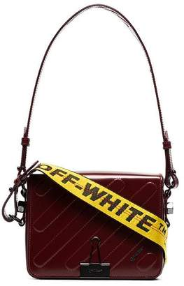 Off-White red mini padded leather shoulder bag