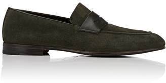 Ermenegildo Zegna Men's Cutout-Strap Suede Loafers