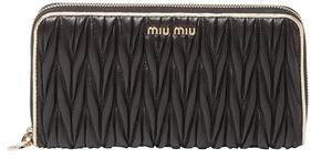 Miu MiuMatelassé Leather Zip Around Wallet