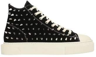 Gienchi Jean Michel Hi Black Suede Sneakers