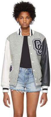 Opening Ceremony Grey OC Varsity Jacket