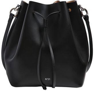 Shiny Leather Bucket Bag $524 thestylecure.com