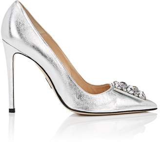 Paul Andrew Women's Ornament-Detailed Metallic Leather Pumps