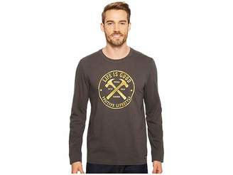 Life is Good Positive Lifestyle Hammers Long Sleeve Crusher Tee