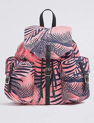 M&S Collection Pure Cotton Printed Backpack Bag