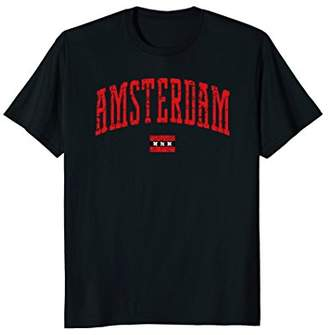 Amsterdam Flag Vintage City T-Shirt